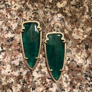 Green Kendra Scott Skylar Arrow Earrings